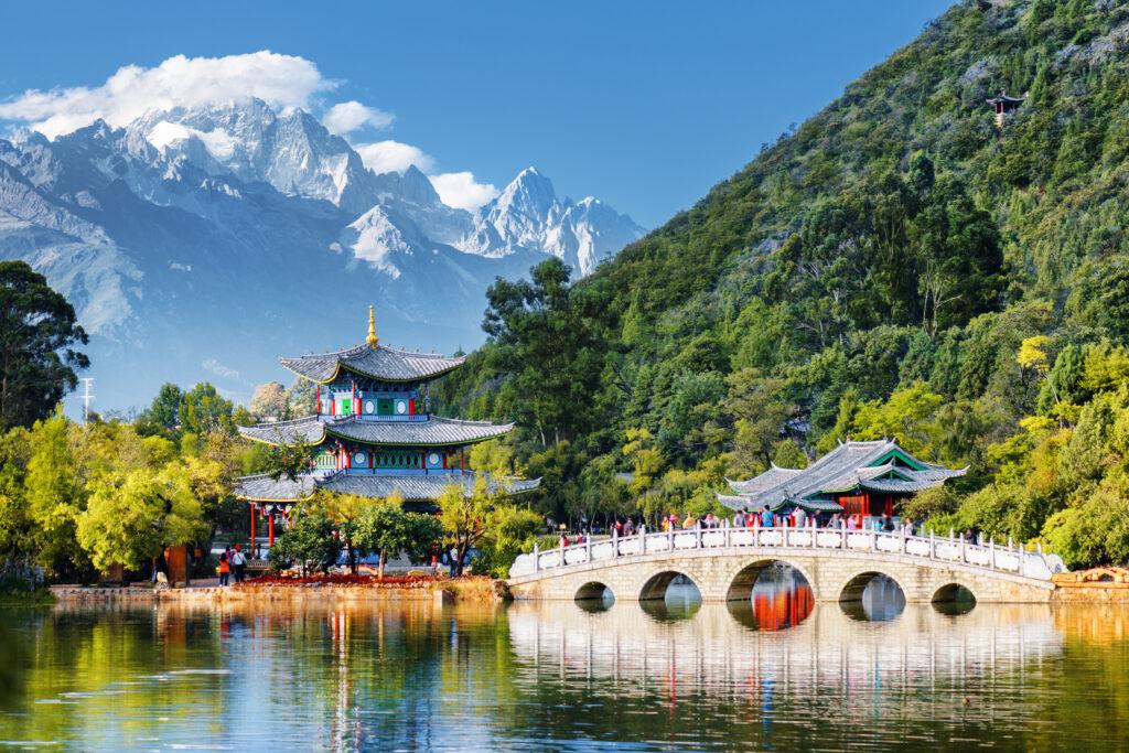 View of Jade Spring Park, Lijiang, Yunnan province, China