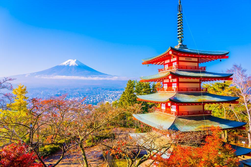 View of Mount Fuji at Yamanashi Japan
