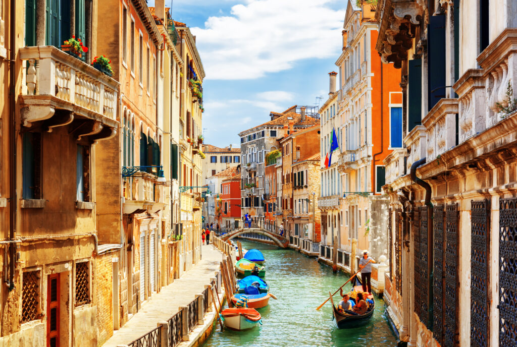 View of the Rio Marin Canal Venice Italy