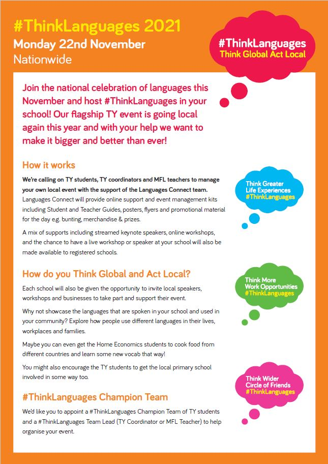ThinkLanguages flyer