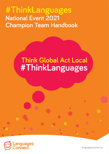 Front cover of ThinkLanguages 2021 Champion Team Handbook