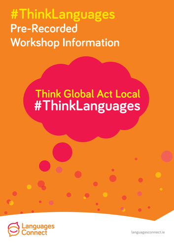 Front cover of #ThinkLanguages 2021 Pre-recorded workshop booklet